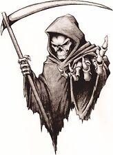 Vinyle Sticker/Autocollant Petit 90 Mm Grim Reaper-face à gauche