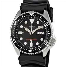 Seiko Black 21-Jewel Automatic Dive Watch, Seiko Rubber Dive Strap #SKX013K1