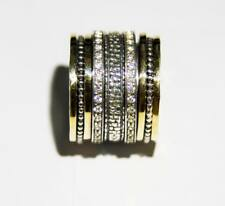 Spinner Ring Israeli Sterling Silver 9ct Gold spinning rings jewelry Bluenoemi