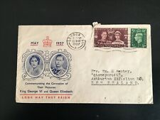 More details for gb 1937 coronation illustrated fdc posted to nz scarce cover (1155)