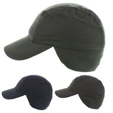The Hat Company Mens Winter Dylan Waxed Cap with Fleece lining