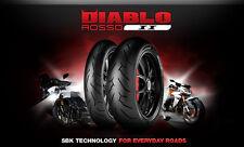 Pneumatici Moto Pirelli Diablo Rosso 2 II Nuovi Coppia Gomme 120 + 180