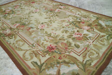 3' X 5' Beautiful Hand Woven 19th Century Aubusson Design Needlepoint Rug