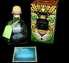 Partron Silver Tequila Hand Blown Bottle Limited Edition Mexican Collector Tin