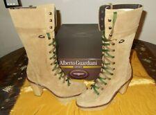 scarpe donna GUARDIANI 36 EU stivali  camoscio BEIGE NUOVI