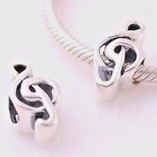 Music Note 925 Sterling Silver Charm Bead