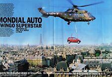 Coupure de Presse Clipping 1992 (10 pages) Mondial Auto Twingo Superstar