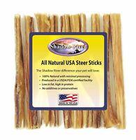 Shadow River 5 Inch THIN Premium USA Beef STEER Bully Sticks Dog Chew Treats