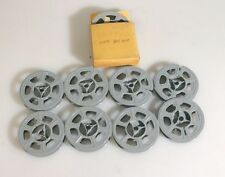 Movie Reels, 50 Foot, Group Of 9, One W/ Found Footage