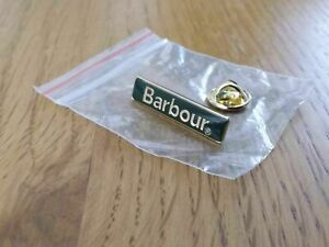 GENUINE BARBOUR PIN BADGE / GREEN WITH GOLD WRITING / SENT FREE FIRST CLASS POST