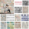 Self Adhesive Tile Vinyl Wall Decal Sticker DIY Kitchen Home Room Art Decoration