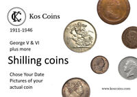 1816-1946 GEORGE V & VI plus + more SILVER Shillings Chose the date of your coin