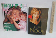Queen Noor 2003 Hardcover Book Leap Of Faith & 1988 Magazine w/ Queen & Child