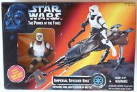 "1995 Kenner Star Wars POTF IMPERIAL SPEEDER BIKE 3.75"" action figure"