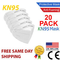 20 Pack KN95 MEDICAL Face Mask Cover Protection Respirator Masks KN 95 5-Layer