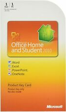 Microsoft Office Home And Student 2010 & Apple Connector Product Key Card