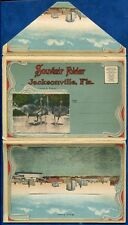 Jacksonville Florida fl old souvenir postcard folder