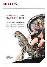 Rare et superbe carte de la vente Millon - Et Milo crea Bardot