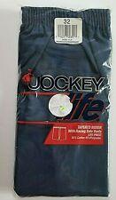 Vintage 1991 Jockey Life Tapered Boxer Shorts Mens Sz 32 Racing Side Vents Blue