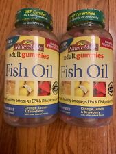 TWO NATURE MADE Adult Fish Oil Gummies, Assorted Flavors 150ct EACH. 01/2020+