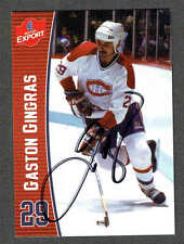 2000(to date) Molson Export Montreal Canadiens Autographed Gaston Gingras