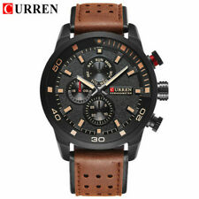 CURREN Men Brand Quartz Watch Casual Leather Strap Wristwatch for Male Watches