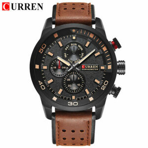CURREN Men Brand Quartz Watch Casual Leather Strap Wristwatch for Male Watches
