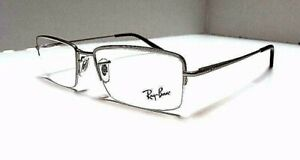 Ray Ban RB 6259 E 2538 Matte Silver 53-17-135 Men's Eyeglasses NEW AUTHENTIC