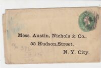 united states used stamped envelope cover ref 19154