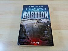Thomas Thiemeyer: Babylon / Thriller / Taschenbuch