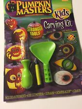New Two Halloween Pumpkin Masters Carving Kit Safe Easy Tools & Pattern Book NWT
