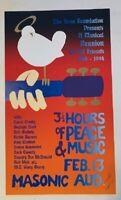 Seva Foundation Poster Woodstock Musical Reunion 1994 Alton Kelley S/N