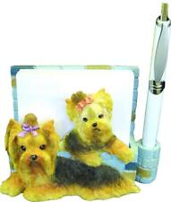 E&S Pets - Magnetic Note Pad Holder: Tan & Black Yorkie, New