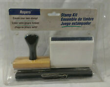 Vintage Rogers Printing Kit Customizable Rubber Type Stamps New/Never Used!