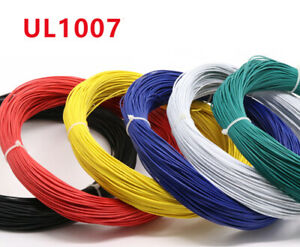 UL1007 AWG Wire Cable 16/18/20/22/24/26/28/30 AWG Stranded 300V 80°C RoHS Cable