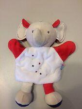 Doudou Éléphant Motif Étoiles blanc rouge Sucre D Orge
