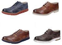 OSSIANI scarpe uomo classiche cerimonia casual colore blu e marrone in pelle