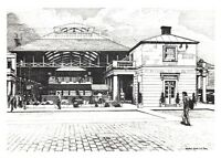 Postcard Art Sketch 1984 The Old Flower Market, Covent Garden by Vere Smith NEW