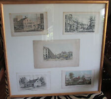 Lithographs D.T. Valentine's Manual City of New York 1841-1870