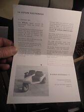 """"""" LA VOITURE ELECTRONIQUE S.A éléctrique : Voiturette Mini auto"""