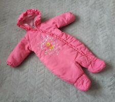 BHS Baby Girls 0-3 Month Kids Clothes Disney Winnie The Pooh Snowsuit Pram Suit