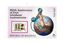 VINTAGE CLASSICS - MALDIVES SC# 631 - 100th Ann of Telephone S/S - MNH