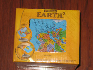 """NEW! Scanglobe Globemaster Square EARTH 2  7.5mm (3"""" inches) BRAND NEW!"""