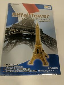 3D PUZZLE EIFFEL TOWER 20 PIECES NEW FACTORY SEALED