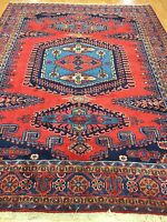 "7'10"" x 10'3"" Turkish Tribal Oriental Rug - Full Pile - Hand Made - 100% Wool"