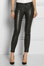 "$1050 J BRAND L8001 ""SUPER SKINNY"" LEATHER LEGGING, SZ 27 NOIR NOTHING SEXIER!!"