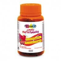 Pediakid Gummies Multivitamin Immune System 14 Vitamins Minerals 22 Fruit 60 cub