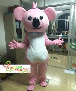 Koala Bear Costume Xmas Party Pink Mascot Dress Adult Christmas Cosplay Suit NEW