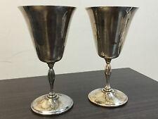 Silver Plate Primrose Wine Goblets