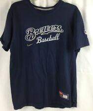 Nike Milwaukee Brewers Baseball T-Shirt Mens L Large